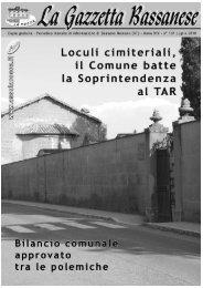 bilancio comunale - La Rocca