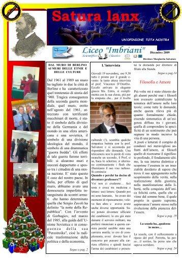 Satura lanx dicembre 2009 - Liceo Classico Scientifico Statale ...