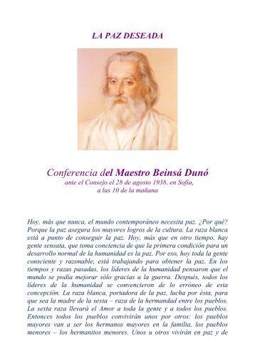 Conferencia del Maestro Beinsá Dunó