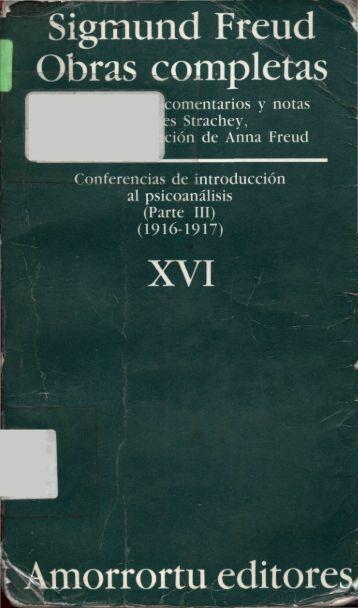 Conferencias de introducción al psicoanálisis (Parte III) (1916-1917)