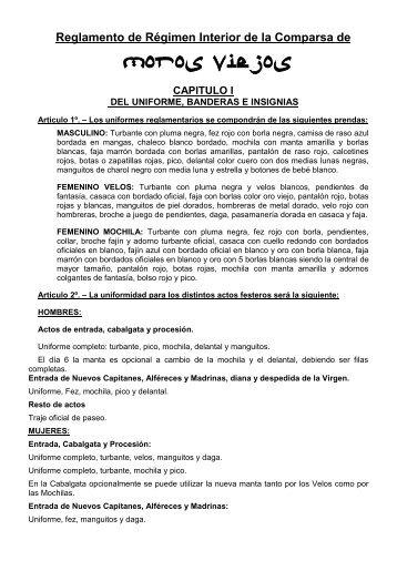 Régimen Interior en PDF - Comparsa de Moros Viejos