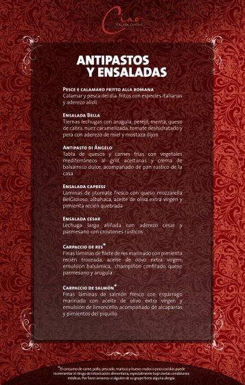Y ENSALADAS ANTIPASTOS - Palace Resorts