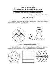 Teia do Saber 2005 - Departamento de Matemática - UFSCar