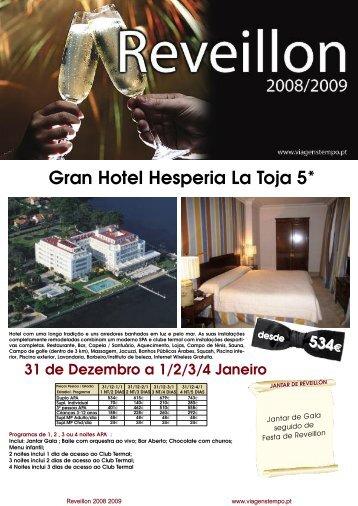 programa de reveillon 2008/2009 gran hotel ... - Viagens Tempo