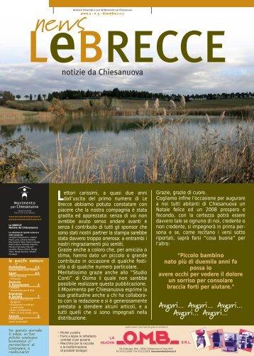 Le Brecce - numero 5 - dicembre 2007 - Movimento per Chiesanuova