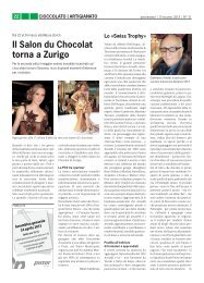 il Salon du chocolat torna a Zurigo