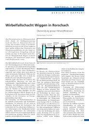 Wirbelfallschacht Wiggen in Rorschach - Abwasserverband Altenrhein