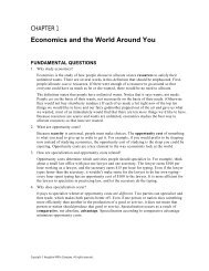 Economics and the World Around You - Cengage Learning
