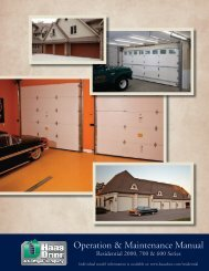 Operation & Maintenance Manual - Midwest Garage Door