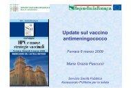 14.30 Update sul vaccino antimeningococco - SItI Emilia Romagna