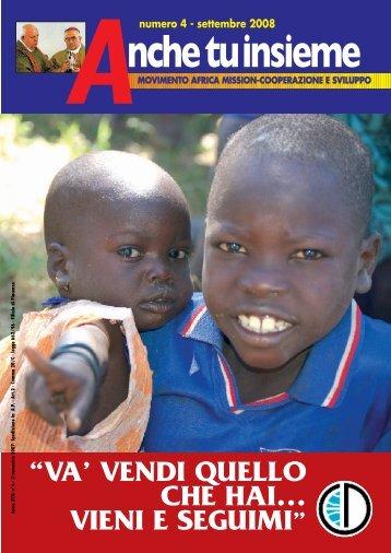 Anche tu -settembre 2008 - Africa Mission