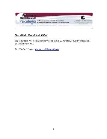 Más allá del Complejo de Edipo - Congreso Marplatense de ...