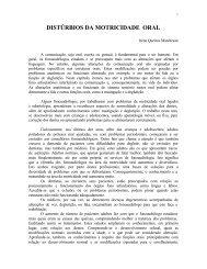 DISTÚRBIOS DA MOTRICIDADE ORAL - CEFAC