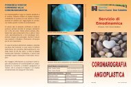 Coronarografia angioplastica - Ospedale Sacro Cuore Don Calabria