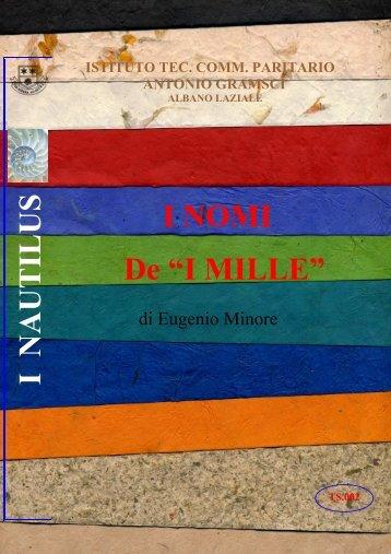 i nomi dei mille - Istituto Tecnico Commerciale Paritario Antonio ...