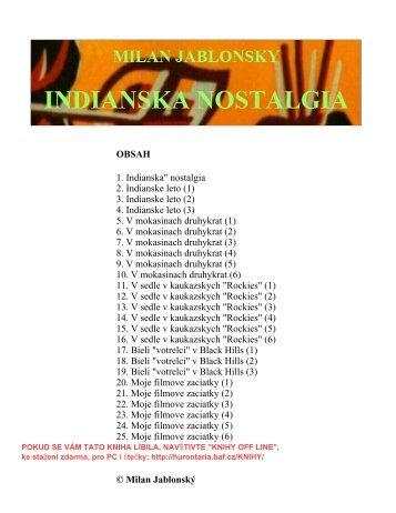 """OBSAH 1. Indianska"""" nostalgia 2. Indianske leto (1 ... - Hurontaria - Baf"""