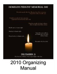 2010 Organizing Manual - National Coalition for the Homeless