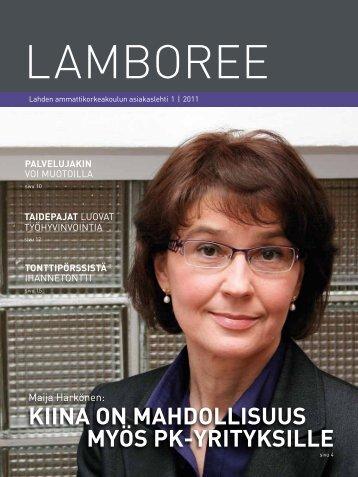 Lamboree-asiakaslehti 1/2011 - Lahden ammattikorkeakoulu