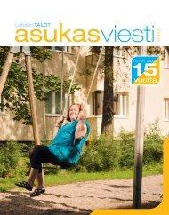 Asukasviesti 3/2012, 15-vuotisjuhlanumero - Lahden Talot Oy