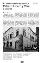 Gli affreschi inediti del salone del Palazzo Especo y Vera a Viterbo