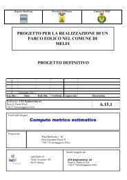 A.15.1 Computo metrico estimativo - Valutazioneambientale ...