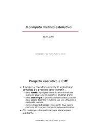 Il computo metrico estimativo - Università IUAV di Venezia