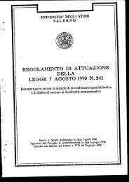 Regolamento sul procedimento ammnistrativo ai sensi della L. 241/90