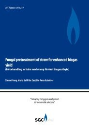 Fungal pretreatment of straw for enhanced biogas yield - SGC
