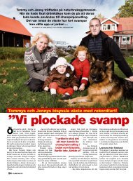 ''Vi plockade svamp hela natte '' - Hans Karlsson