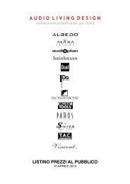 Scarica il listino Audio Living Design aprile 2013 - Music Tools