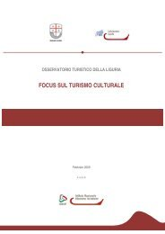2009 - focus sul turismo culturale - Camere di Commercio Liguri