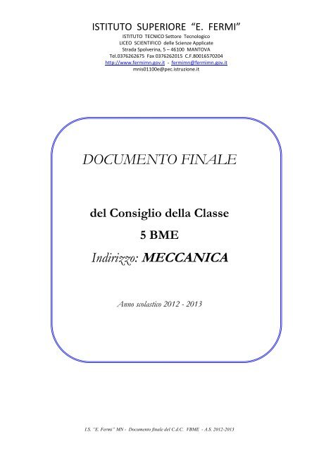 classe 5BME - Fermi