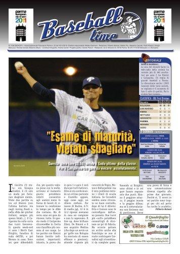 """Esame di maturità, vietato sbagliare"""" - Parma Baseball"""