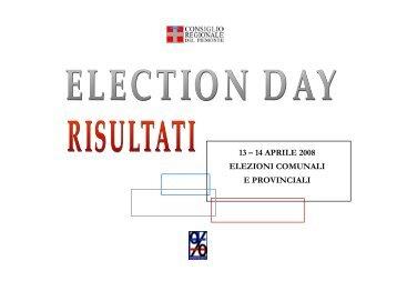 13/14 aprile 2008 elezioni comunali e provinciali - Consiglio ...