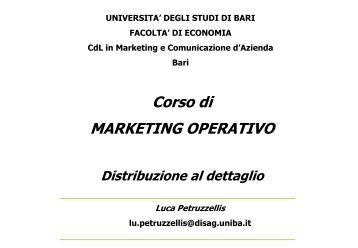 Distribuzione al dettaglio - Dipartimento di Studi Aziendali e ...