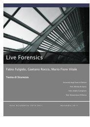 Live Forensics - Dipartimento di Informatica ed Applicazioni ...