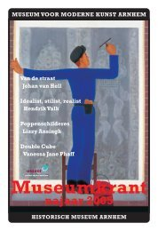 Museumkrant najaar 2005 - Historisch Museum Arnhem