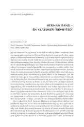 HERMAN BANG – EN KLASSIKER 'REVISITED'