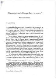 Disoccupazione in Europa: fatti e proposte ,f - Riccardo Fiorit