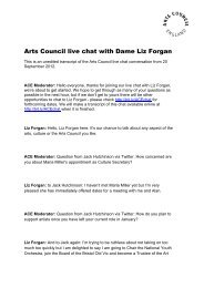 Download the live chat transcript - Arts Council England