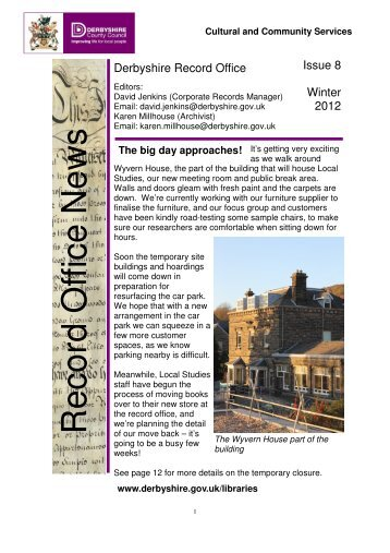 Newsletter Winter 2012 compressed - Derbyshire County Council