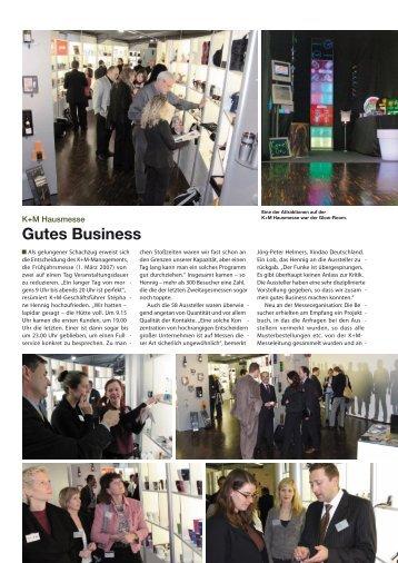 Gutes Business - K+M Werbemittel