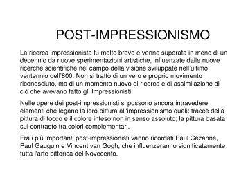 POST-IMPRESSIONISMO - Comune di Modena