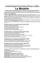 LE MODELLE V ED.07-08 - Provincia di Pesaro e Urbino