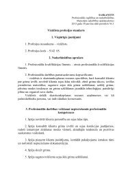 Vizāžista profesijas standarts 1. Vispārīgie jautājumi 1. Profesijas ...