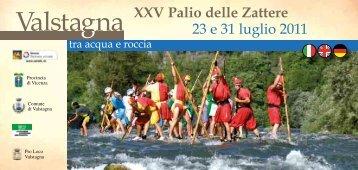 XXV Palio delle Zattere 23 e 31 luglio 2011 - Comune di Valstagna
