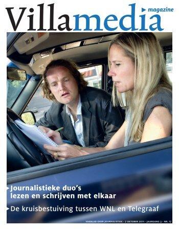 Journalistieke duo's lezen en schrijven met elkaar ... - Sylvia Verhulst