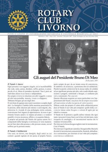 Bollettino Novembre-Dicembre 2007 - Rotary Club Livorno
