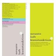 neunte loft kunstauktion - Kunstverein Pforzheim im Reuchlinhaus eV
