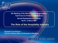 IH&RA - World Tourism Organization UNWTO
